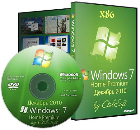 Windows 7 HP Integrated December 2010 by CtrlSoft (RUS/2010)