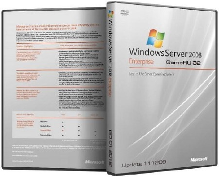 Microsoft Windows 2008 SP2 GameRU-32 Update x86 (2012/RUS)