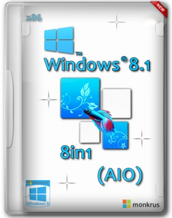 Microsoft Windows 8.1 RUS-ENG x86 -8in1- (AIO) by m0nkrus
