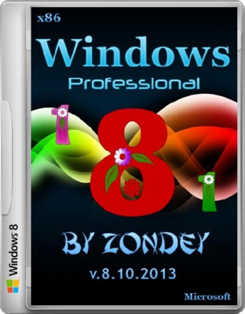 Windows 8.1 Professional v.8.10.2013 by zondey (x86/RUS/2013)