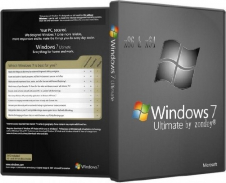 Windows 7 Ultimate SP1 x86x64 v.19.14 by zondey