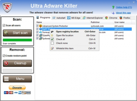 Ultra Adware Killer 4.2.1.0 (x86/x64) Portable