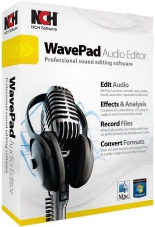 WavePad Sound Editor Masters Edition 8.00 (ML/RUS/2018) Portable