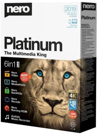 Nero Platinum 2019 Suite 20.0.07200 + Content Pack