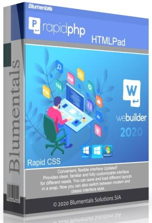 Blumentals HTMLPad / Rapid CSS / Rapid PHP / WeBuilder 2020 16.2.0.229